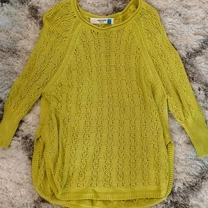 Anthropologie Knit Lime Sweater